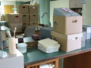 Re-housed archives materials