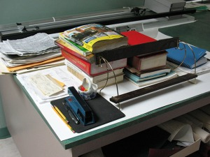 Salvaged office contents