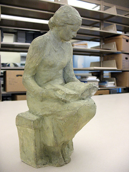 Plaster model for Library Girl, 1944