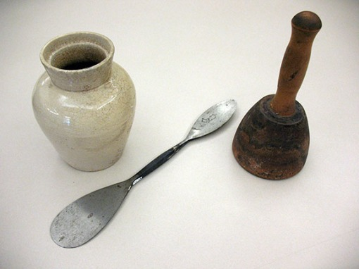 Tools belonging to Christian Petersen.