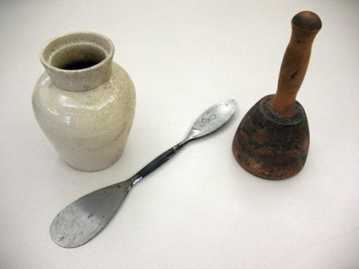 Tools belonging to Christian Petersen.