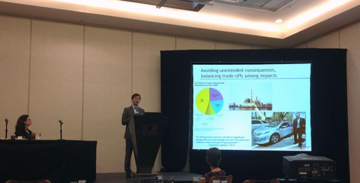 Dr. Matthew Eckelman, Assistant Professor of Civil and Environmental Engineering at Northeastern University, presents the findings of his students' LCA projects.