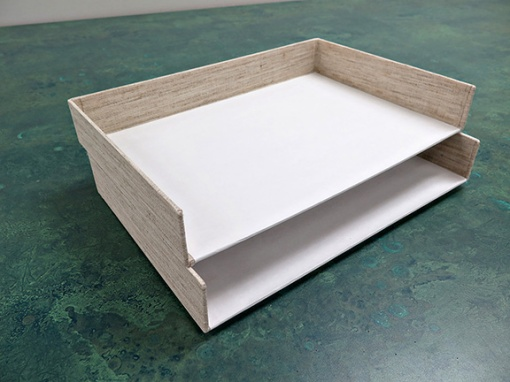 """""""Stackette"""" style trays made from faulty clamshell trays."""