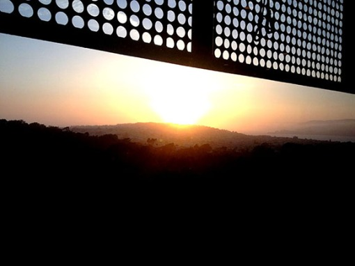 Sunset view from the de Young Museum tower.