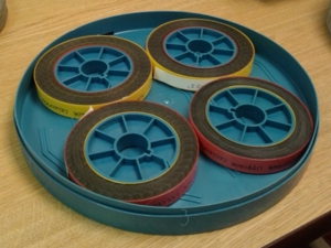 The Lippisch Films transferred into 3-inch cores and re-housed.