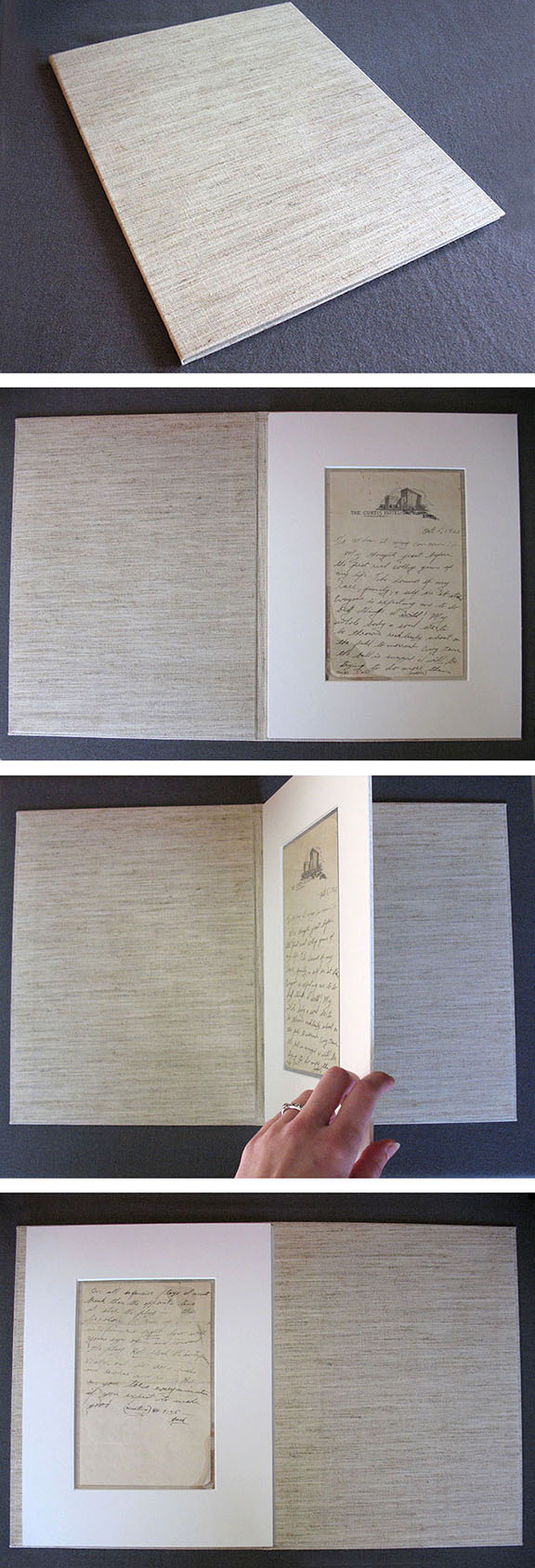 The last letter written by Jack Trice in 1923, on the eve of the college football game in which he was fatally injured.