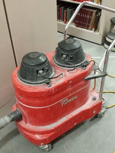 red vacuum unit