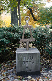 Tau Beta Pi marker outside of Marston Hall.