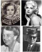 Greta Garbo, Jean Harlow, Eleanor Roosevelt and John F. Kennedy