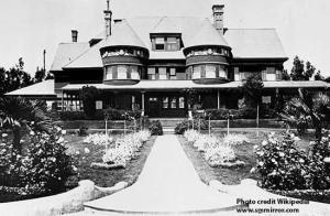 The original Miramar, the home of Senator John P. Jones and Mrs. Georgina Jones, 1890