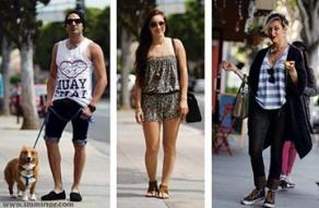Present day fashionistas of Santa Monica