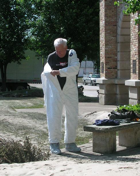 IMALERT volunteer suiting up for work