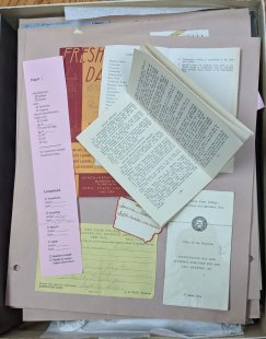 One of the pages from the Lorris A. Foster scrapbook, which holds the University Rule Book. RS 21/7/147